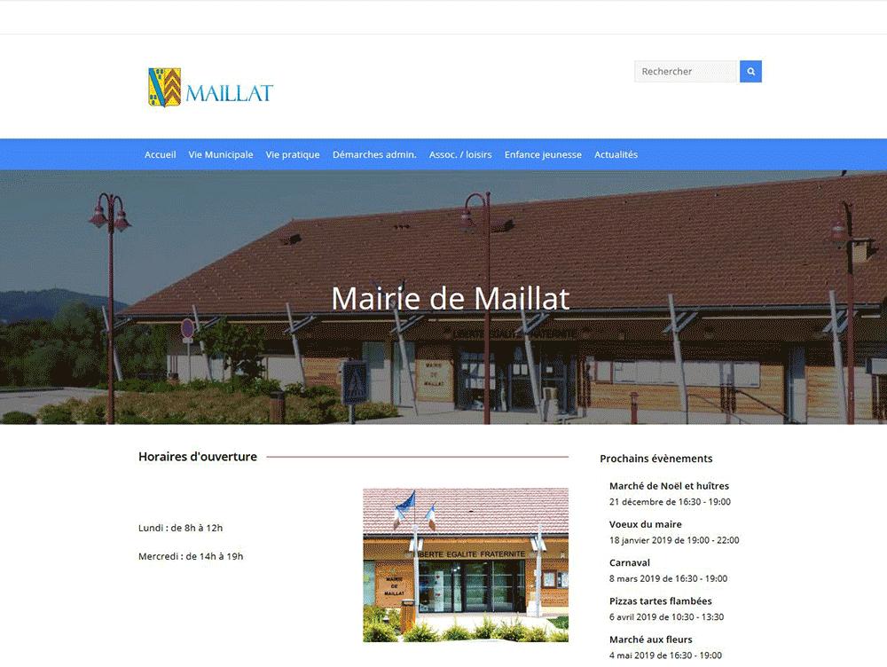 Réalisation du site Web Commune de Maillat