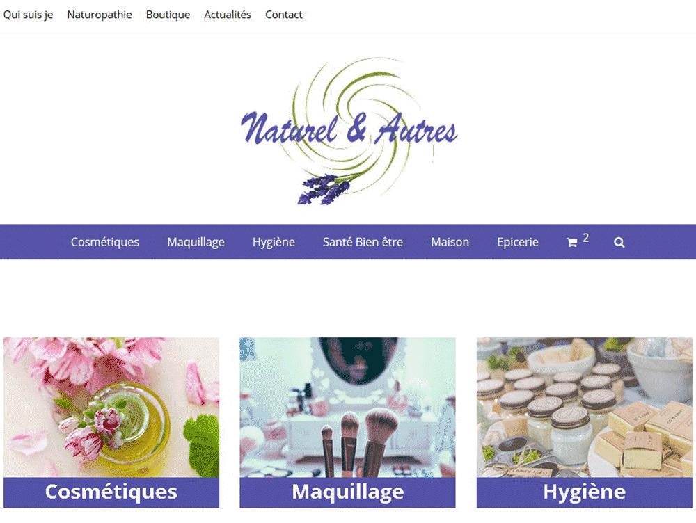 Réalisation du site E-commerce Naturel & Autres