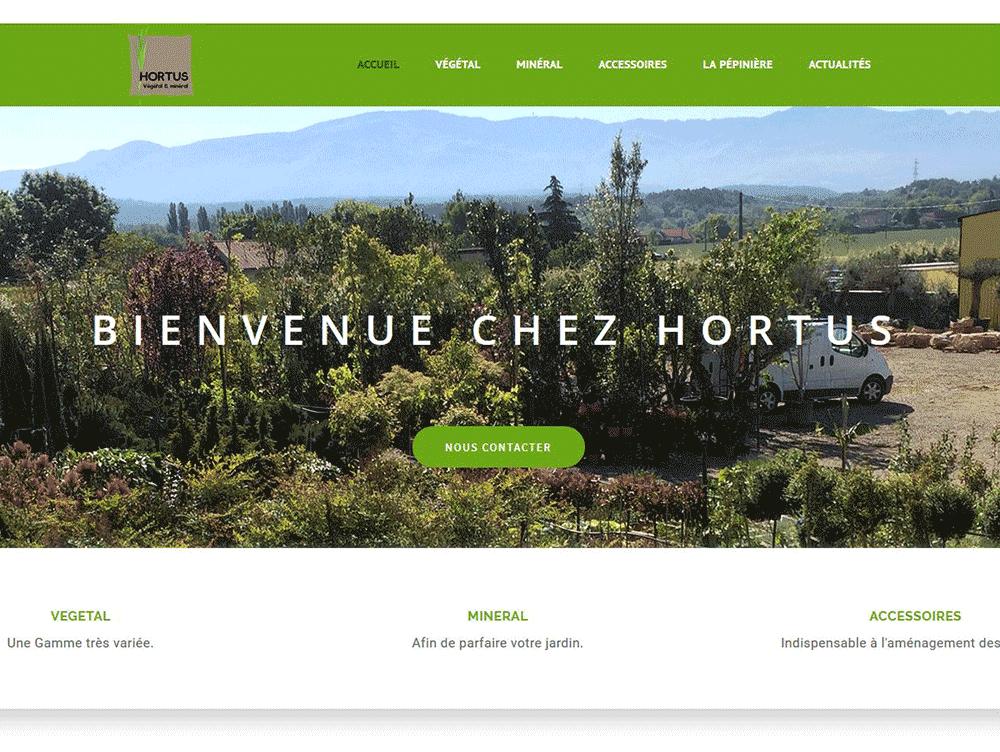 Réalisation du site web Hortus végétal & minéral